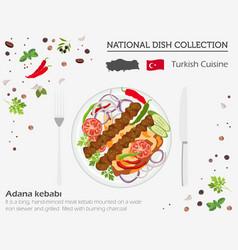 turkish cuisine middle east national dish vector image