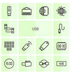 usb icons vector image