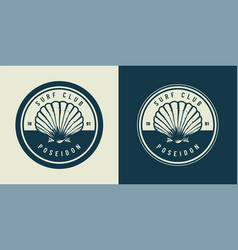 vintage monochrome marine and sea emblem vector image