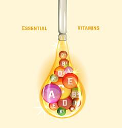 vitamin complex image vector image