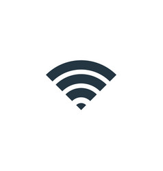 wifi signal icon simple element vector image