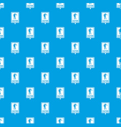 Zombie road sign pattern seamless blue vector
