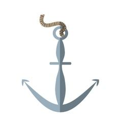 cartoon anchor steel nautical symbol vector image vector image