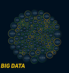 circular big data colorful vector image