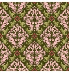 damask wallpaper vector image vector image
