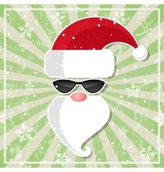 Santa in glasses with dark lenses vector image vector image