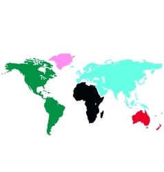 The color map of the world vector image vector image