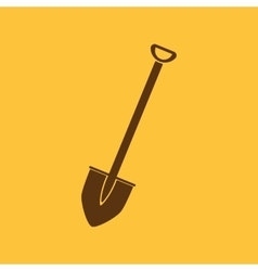 The shovel icon Spade symbol Flat vector image