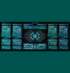 background with futuristic user interface design vector image vector image