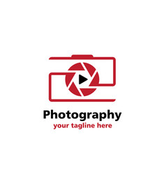 camera videografi business logo vector image