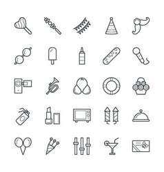 Celebration and party cool icons 1 vector