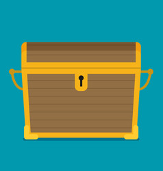 flat of chest icon vector image