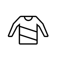 sweater icon vector image