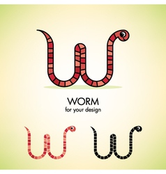 worm icon vector image