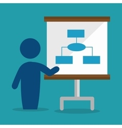 Avatar training business conference isolated vector