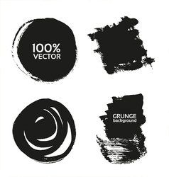 grunge handmade black strokes- backgrounds vector image vector image