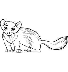 marten animal cartoon coloring book vector image vector image