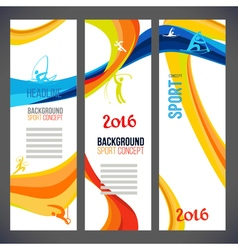 template design colored lines and waves vector image vector image