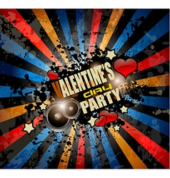 Valentines Day party invitation flyer background vector image vector image