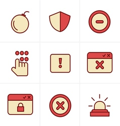 Icons Style Security icons vector image