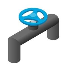 Pipeline valve stopcock isometric 3d icon vector image vector image