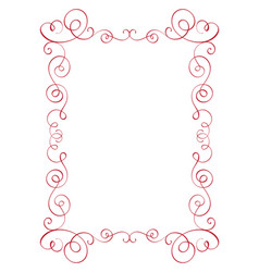 square flourish calligraphy vintage frame vector image vector image