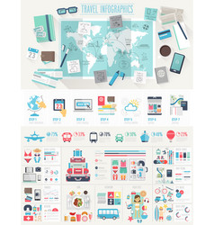 Travel Infographic set vector image vector image
