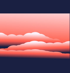 3d clouds modern sky vector