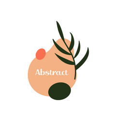 Abstract emblem label or logo design liquid vector