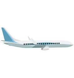 Airplane side view isolated on white vector