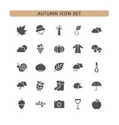 autumn icon set on a white background vector image