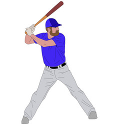 Baseball player detailed 6 vector