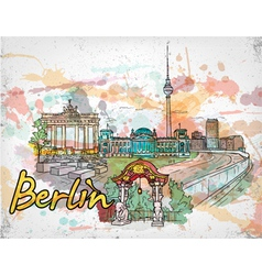 berlin doodles vector image