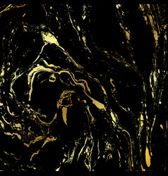 black and gold marble texture background vector image
