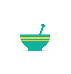 bowl icon color vector image