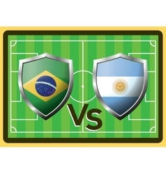 Brazil vs Argentina vector