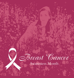 breast cancer pink background vector image