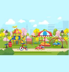 bright design of urban playground vector image