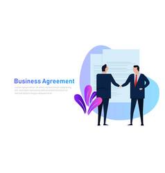 business people agreement standing handshake vector image