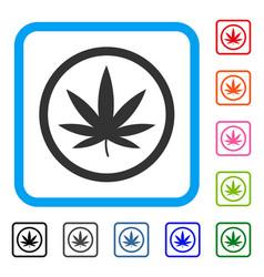 Cannabis framed icon vector