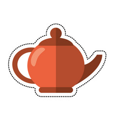 cartoon teapot beverage ceramic image vector image