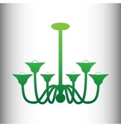 Chandelier simple icon vector