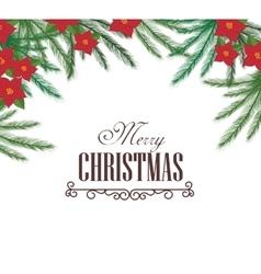 Christmas fir decoration card vector