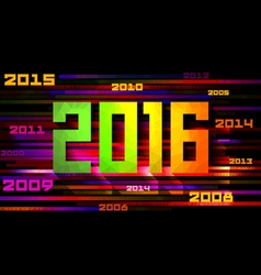 Colorful design Happy New Year 2016 vector image