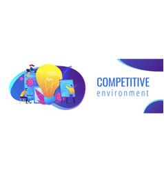 Competitive intelligence concept banner header vector