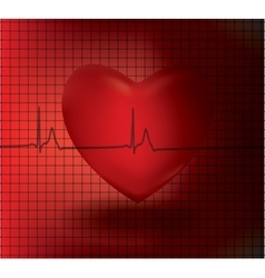 Concept of medical problem with heart vector image