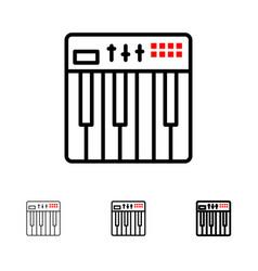 Controller hardware keyboard midi music bold and vector