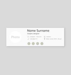 Corporate email signature vector