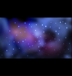 Cosmic background with galaxy space nebula and vector