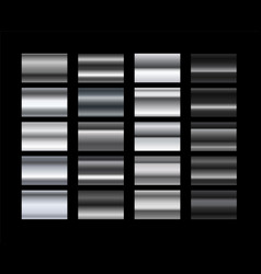 different metal gradients set vector image